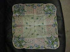 """""""Hand Rolled in The Philippines"""" Floral Vintage Handkerchief.Tulips &…"""