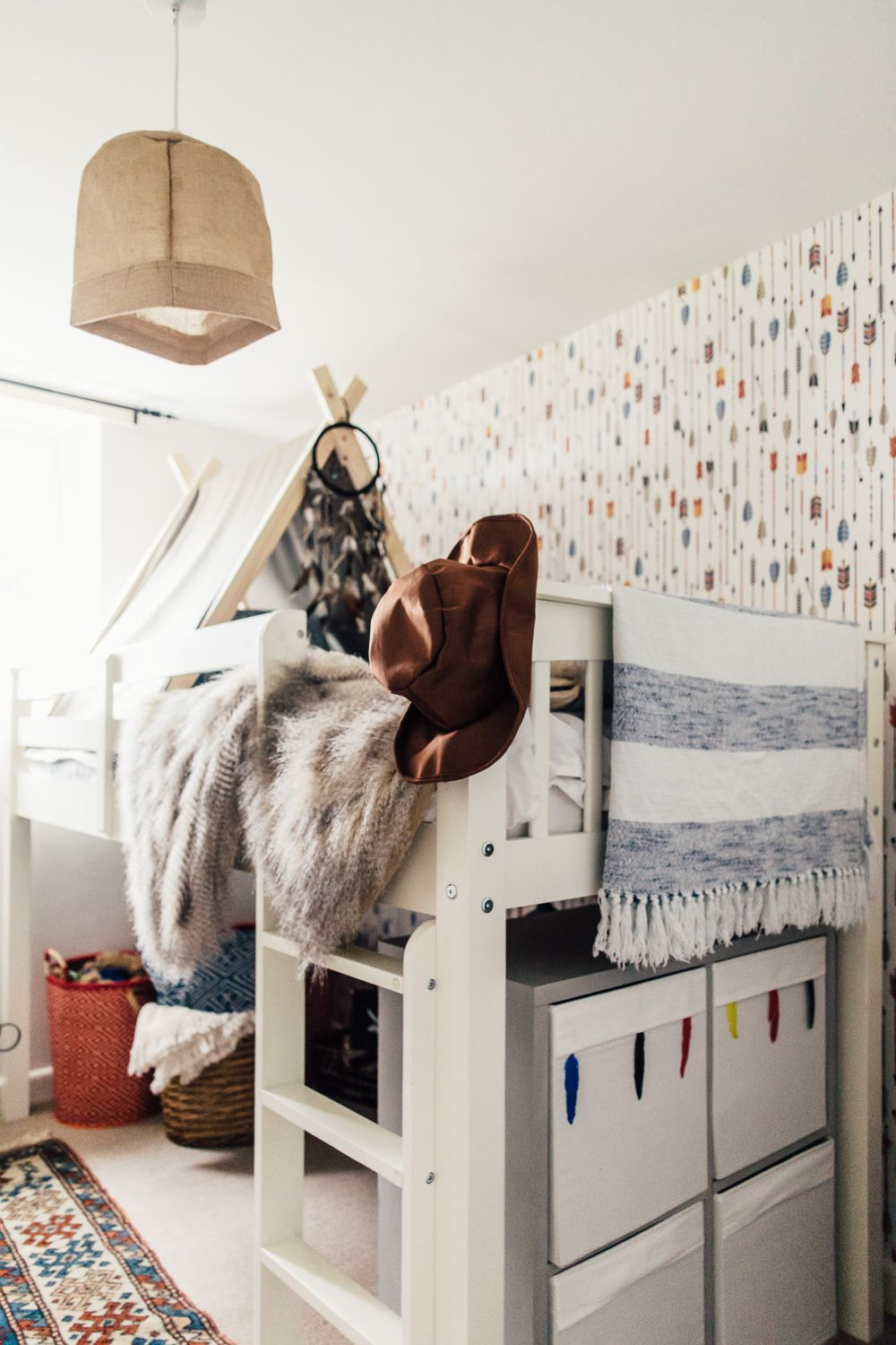 Woodland Themed Childrens Kids Bedroom Ideas With Diy Tipi My