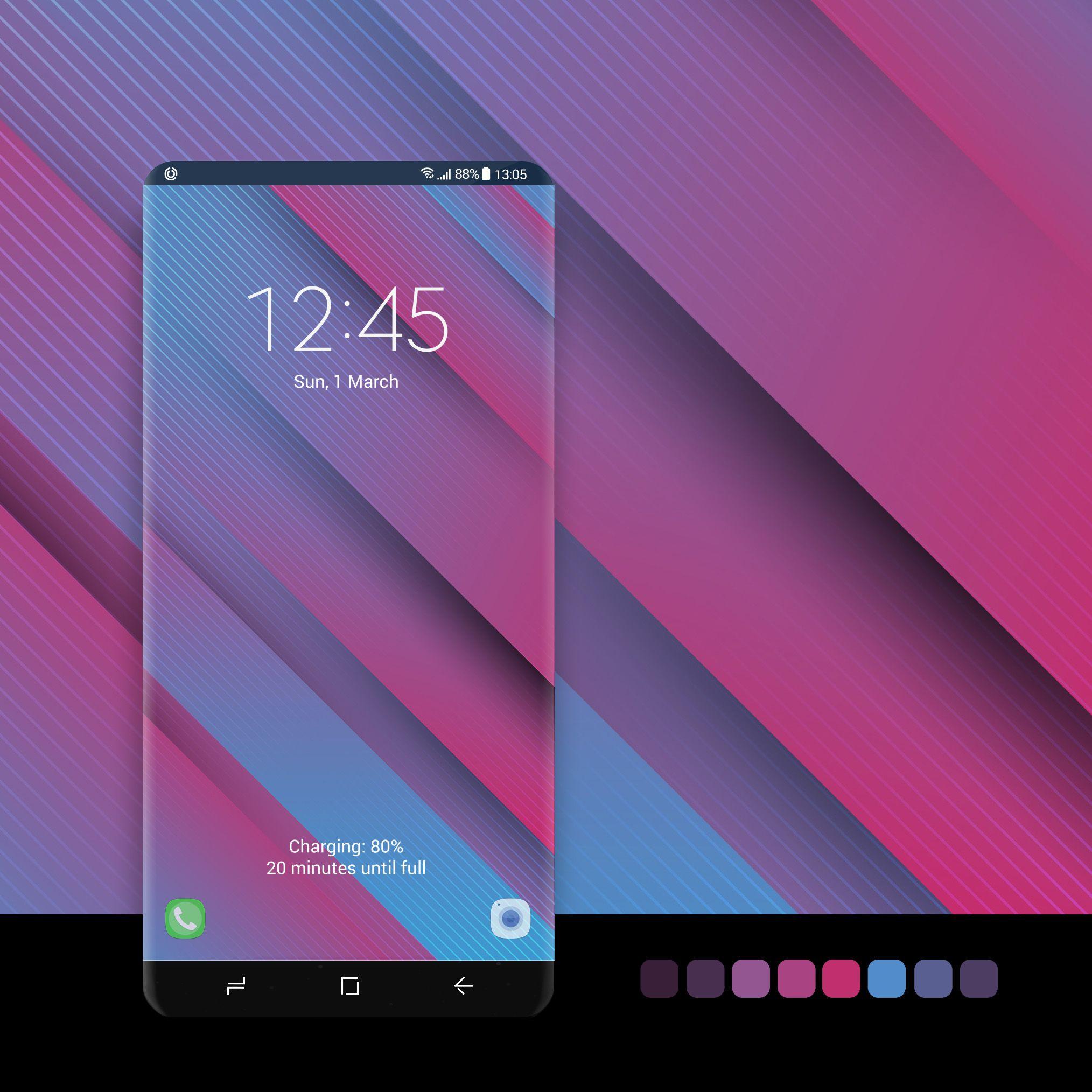 Blue And Pink Diagonal Lines Samsung Galaxy Wallpaper Lines Wallpaper Galaxy