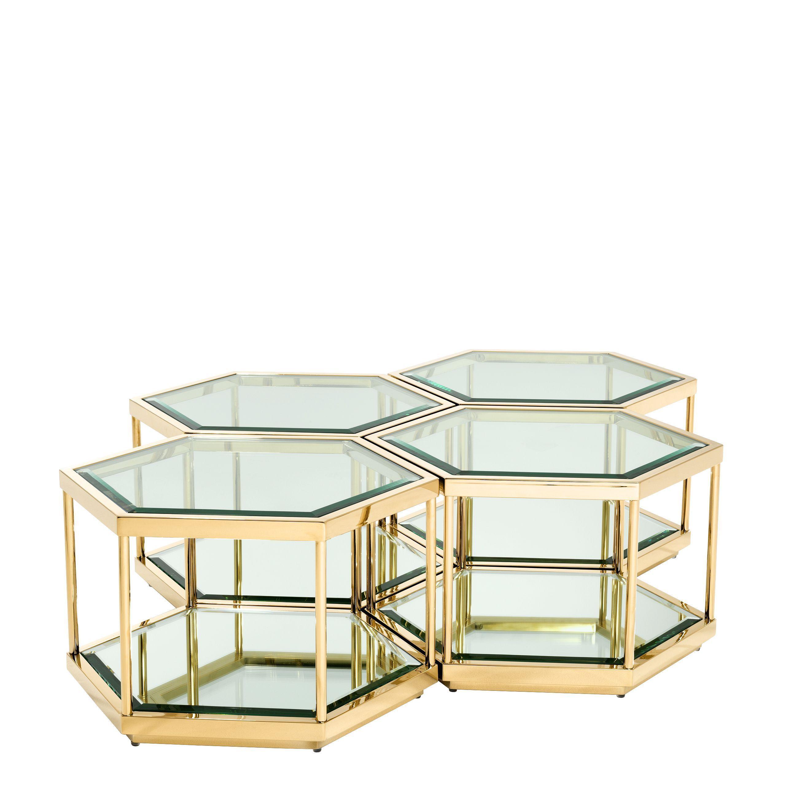 Gold Hexagonal Coffee Table Set Eichholtz Sax In 2021 Hexagon Coffee Table Coffee Table Coffee Table Setting [ 2560 x 2560 Pixel ]