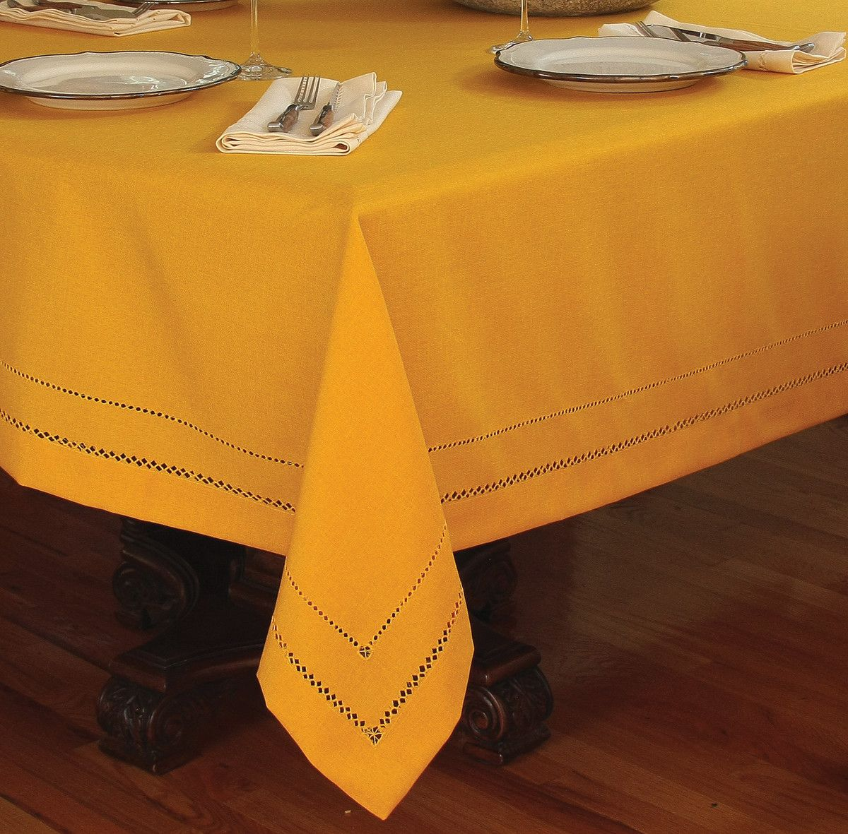 Wonderful Handmade Double Hemstitch Easy Care Tablecloth
