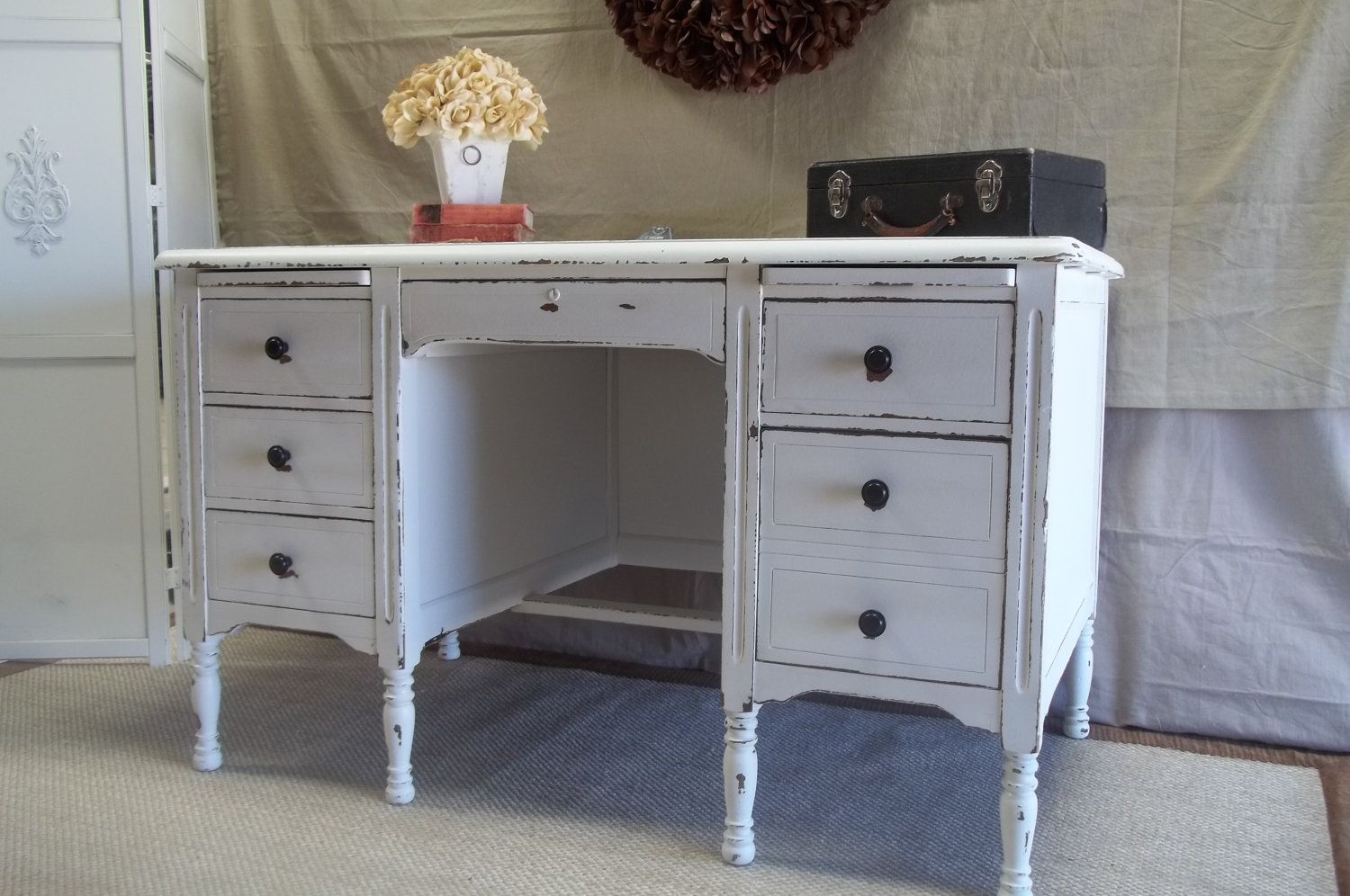 vintage shabby chic inspired office. Image Result For White Natural Inspired Office Vintage Shabby Chic O