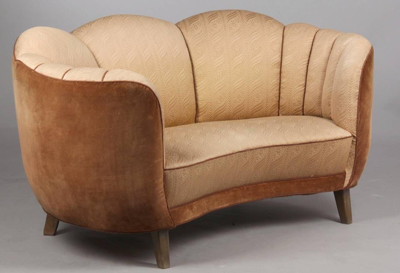 Swedish Art Deco Curved Sofa 1stdibs Com Art Deco Sofa Curved Sofa Living Room Sofa Design