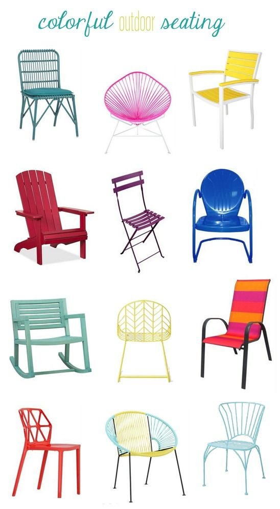 colorful outdoor seating colorful