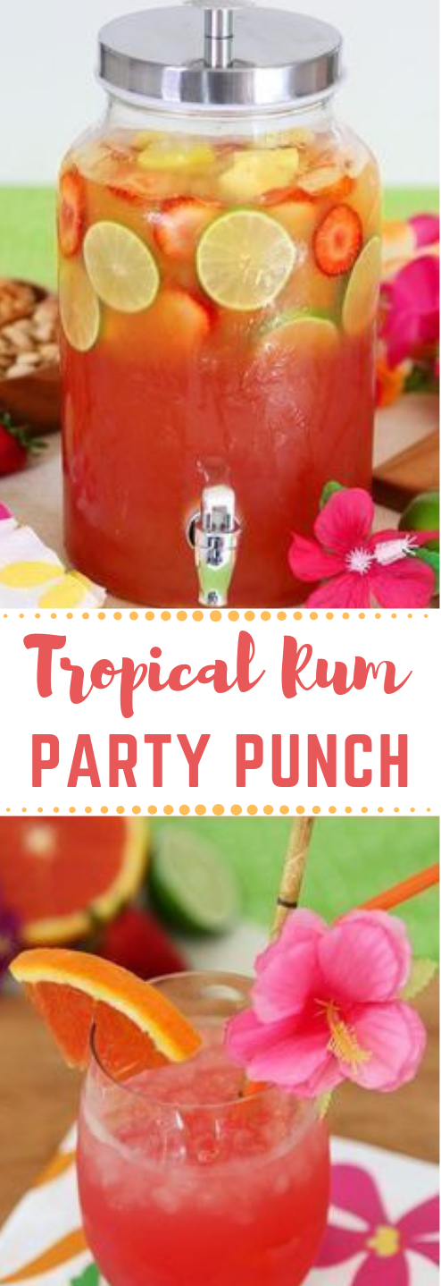 Tropical Rum Punch #party #cocktail #drink #fresdrink #smoothie #alcoholicpartydrinks