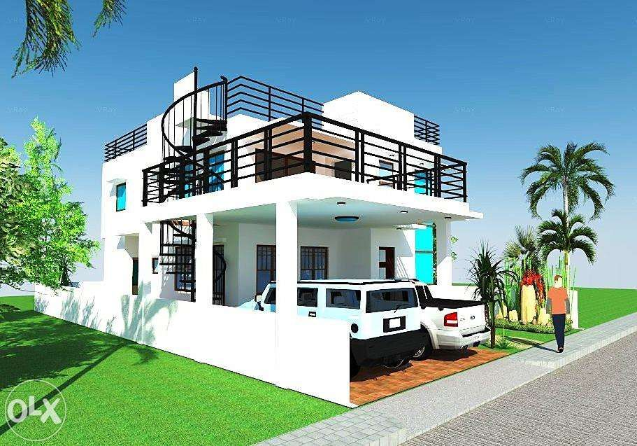 View Modern Design House With Roof Deck For 12m X 20m