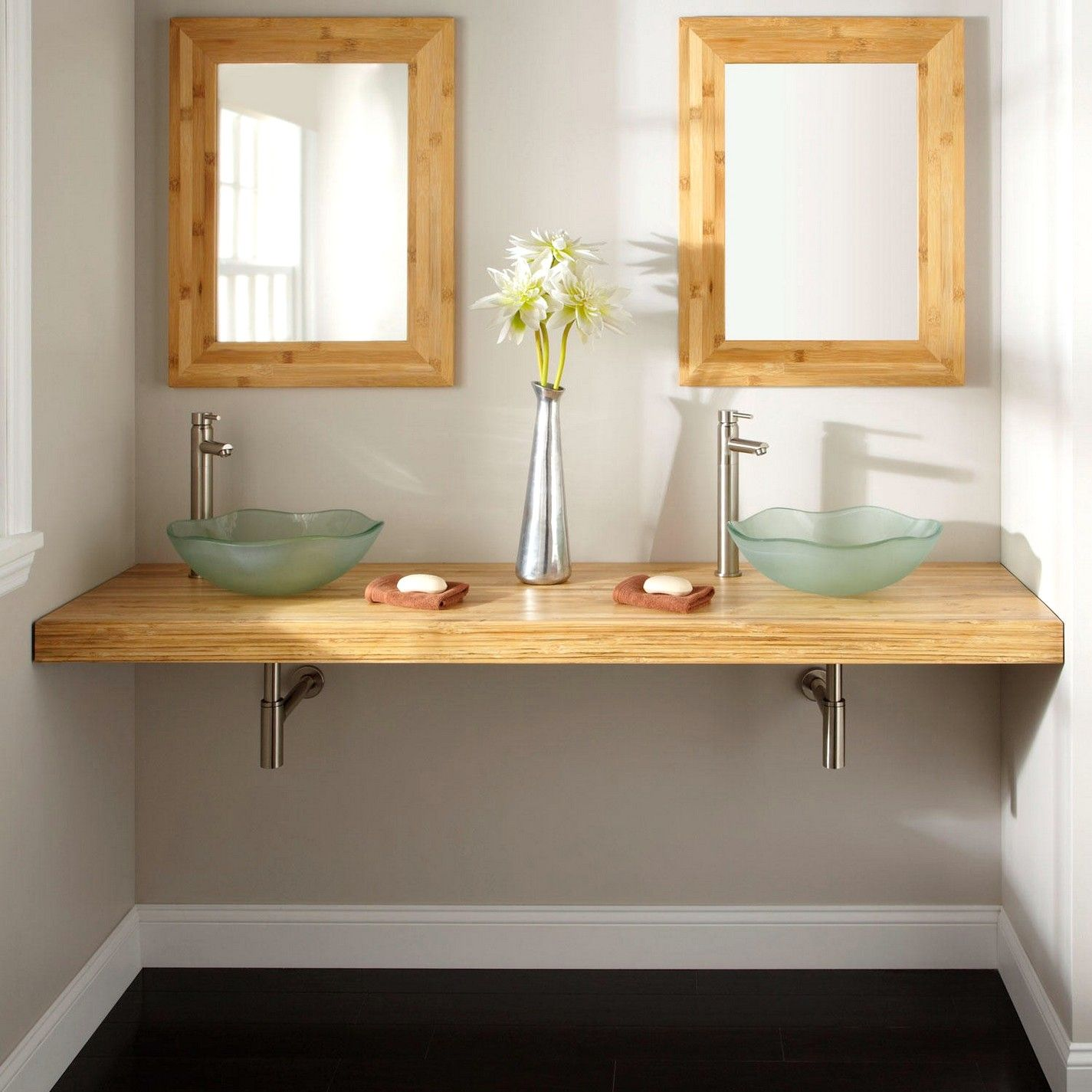 bamboo bathroom vanity : Bamboo Bathroom Cabinet HomeWallpaperinfo ...