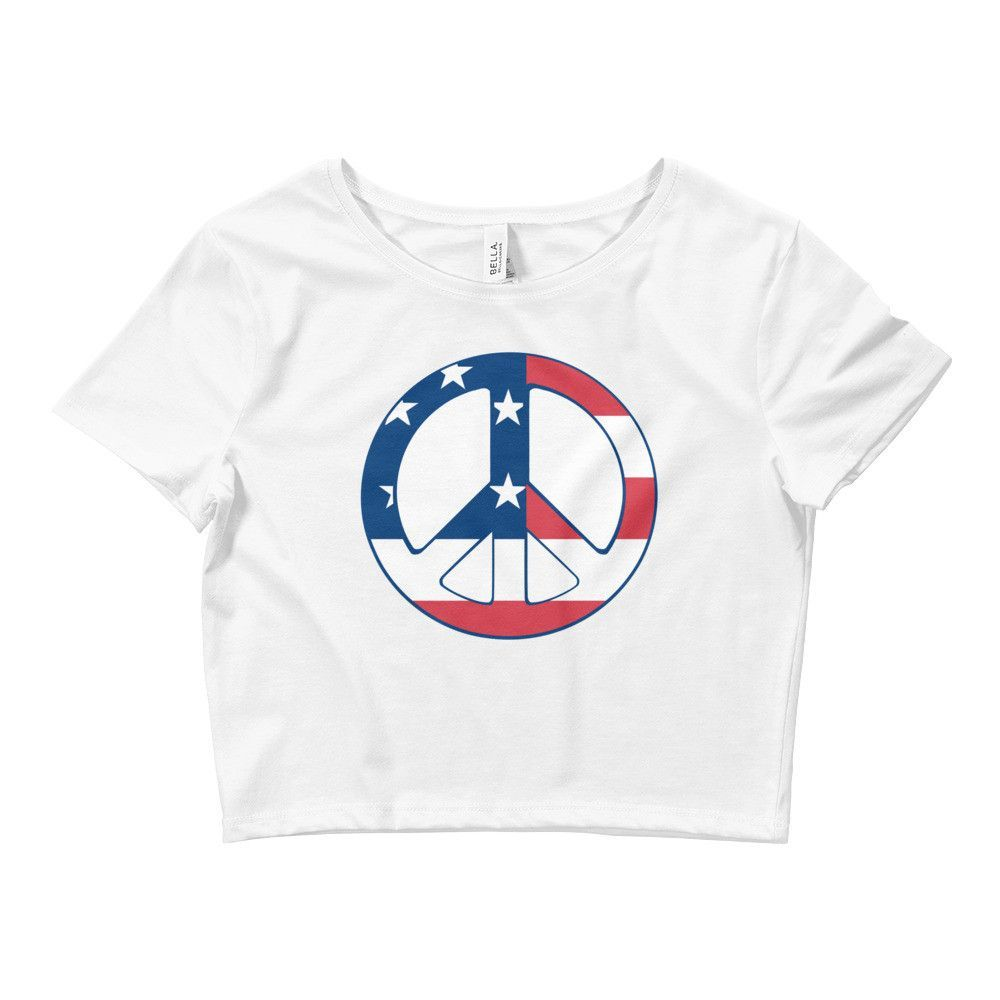 The USA Peace Logo Crop Top