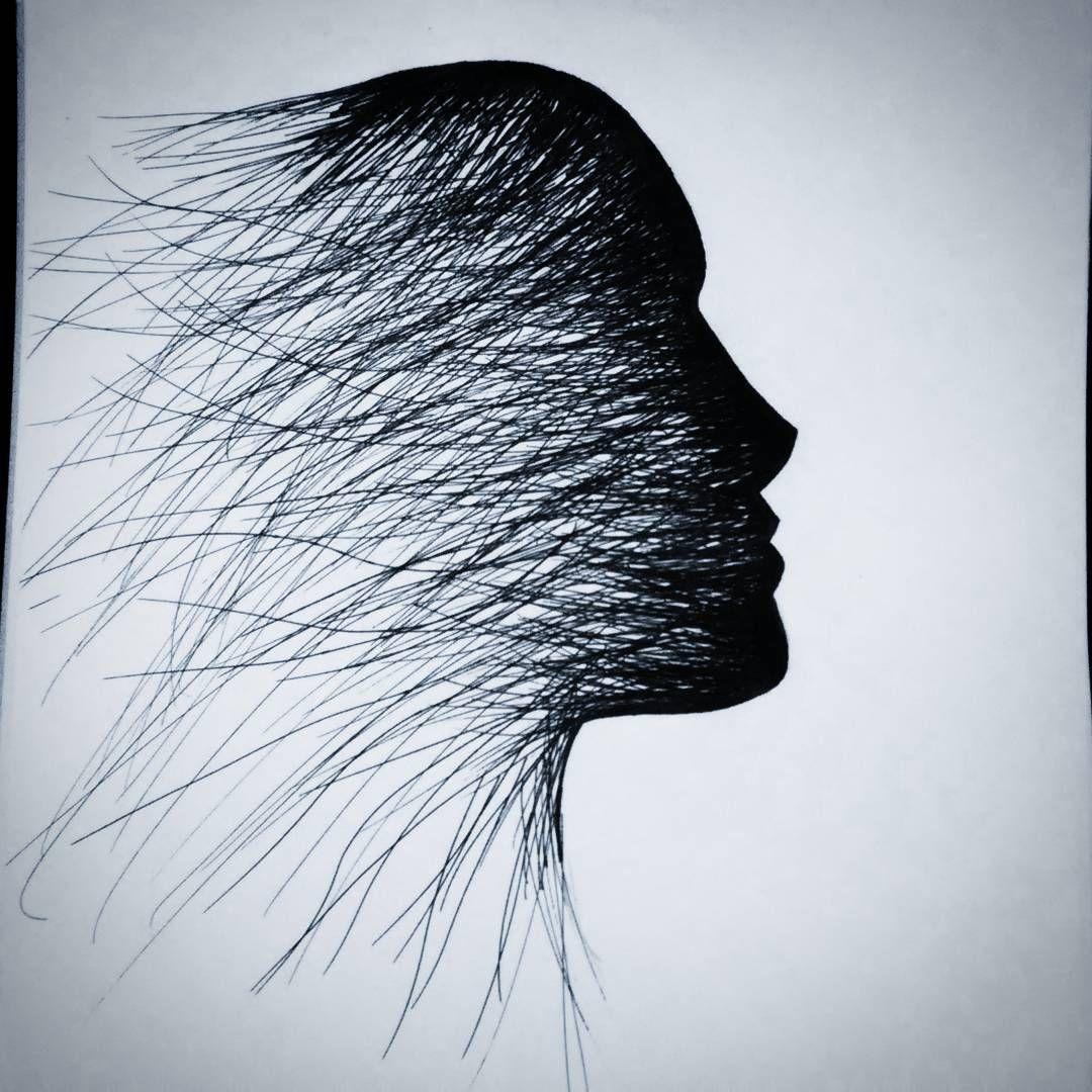 Kitti Prajd On Instagram Art Drawing Face Shadow Dark Waves Past Art Drawings Art Inspiration