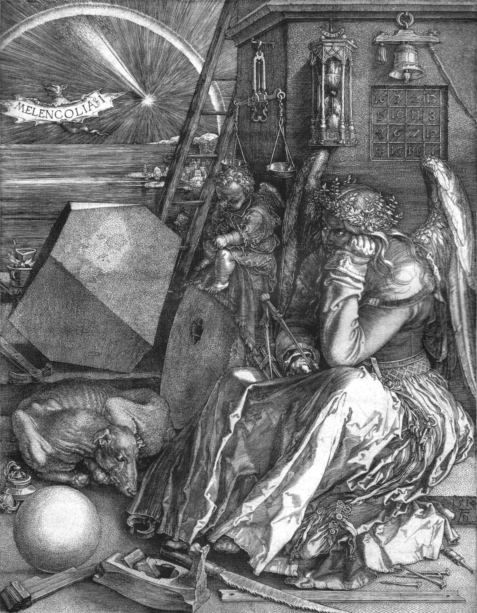 Albrecht Durer Melancholia 1514 Albrecht Durer Renaissance Kunst Holzarbeiten
