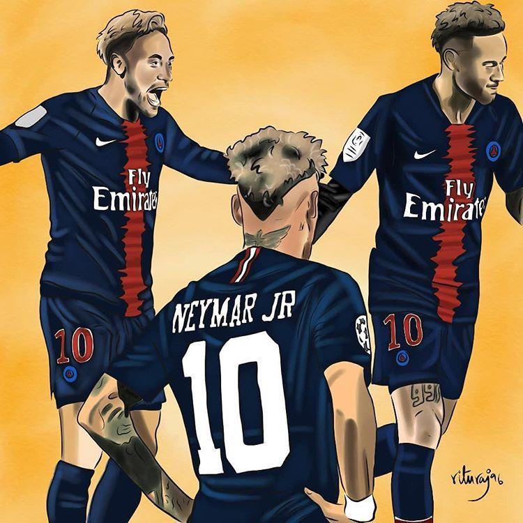 Plakat Neymar Jr Brasilien Brasilien FUßBALL Wand Kunst