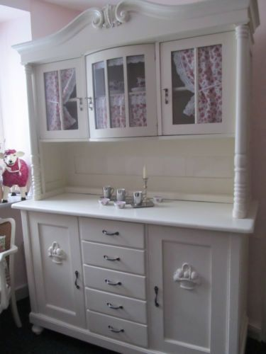 buffet buffetschrank k chenschrank k chenbuffet creme weiss shabby chic antik ebay kitchen. Black Bedroom Furniture Sets. Home Design Ideas