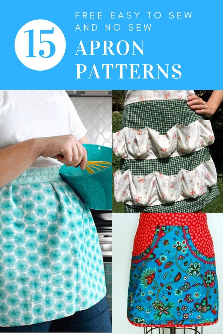 Easy to Sew or No Sew Free Apron Patterns for Homestead Chores