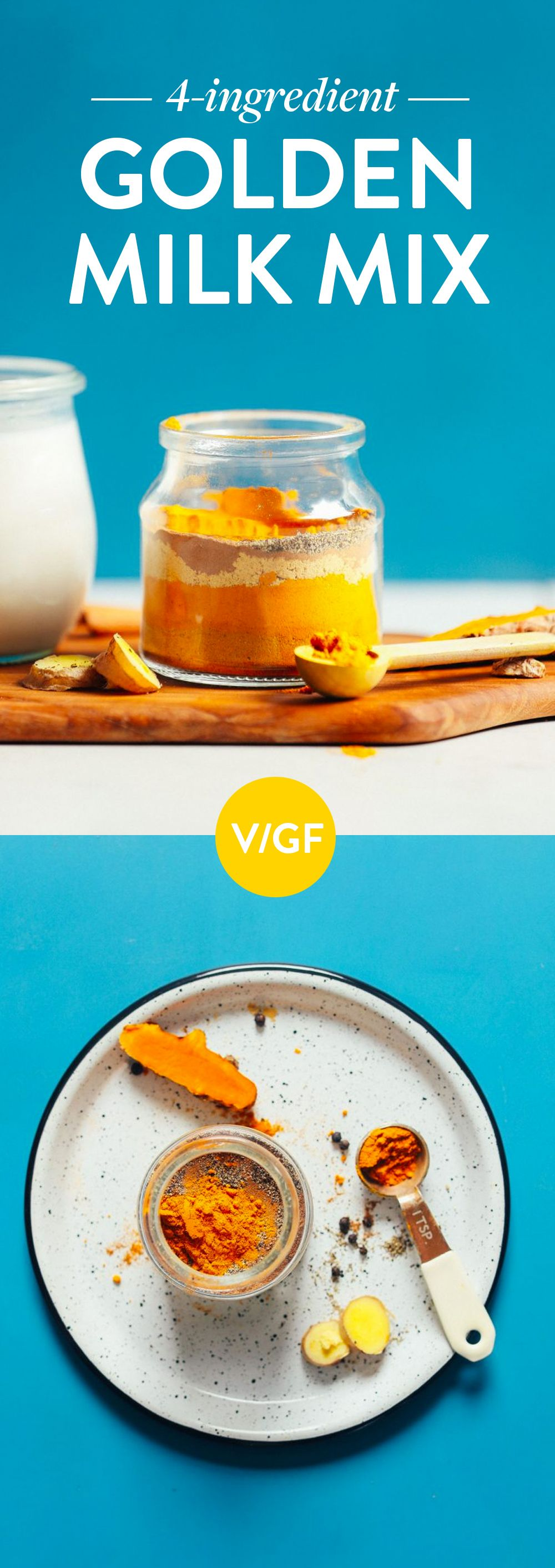 4Ingredient Golden Milk Mix Recipe Golden milk, Milk
