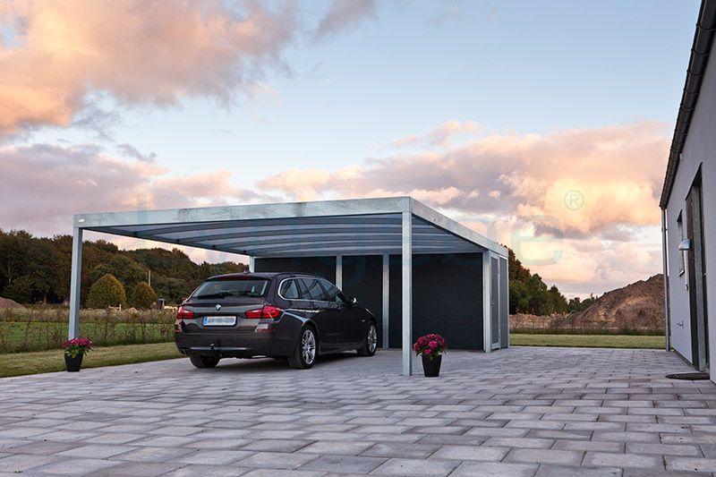 Isoleret redskabsrum med dobbelt carport