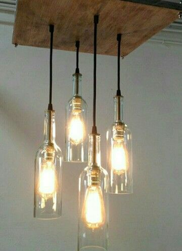 Pin by mischelle jolly on kichens pinterest nice pallet wine recycled wine bottle chandelier this item was featured on the front page of etsy this unique rustic cottage style chandelier is handmade and stained a mozeypictures Image collections