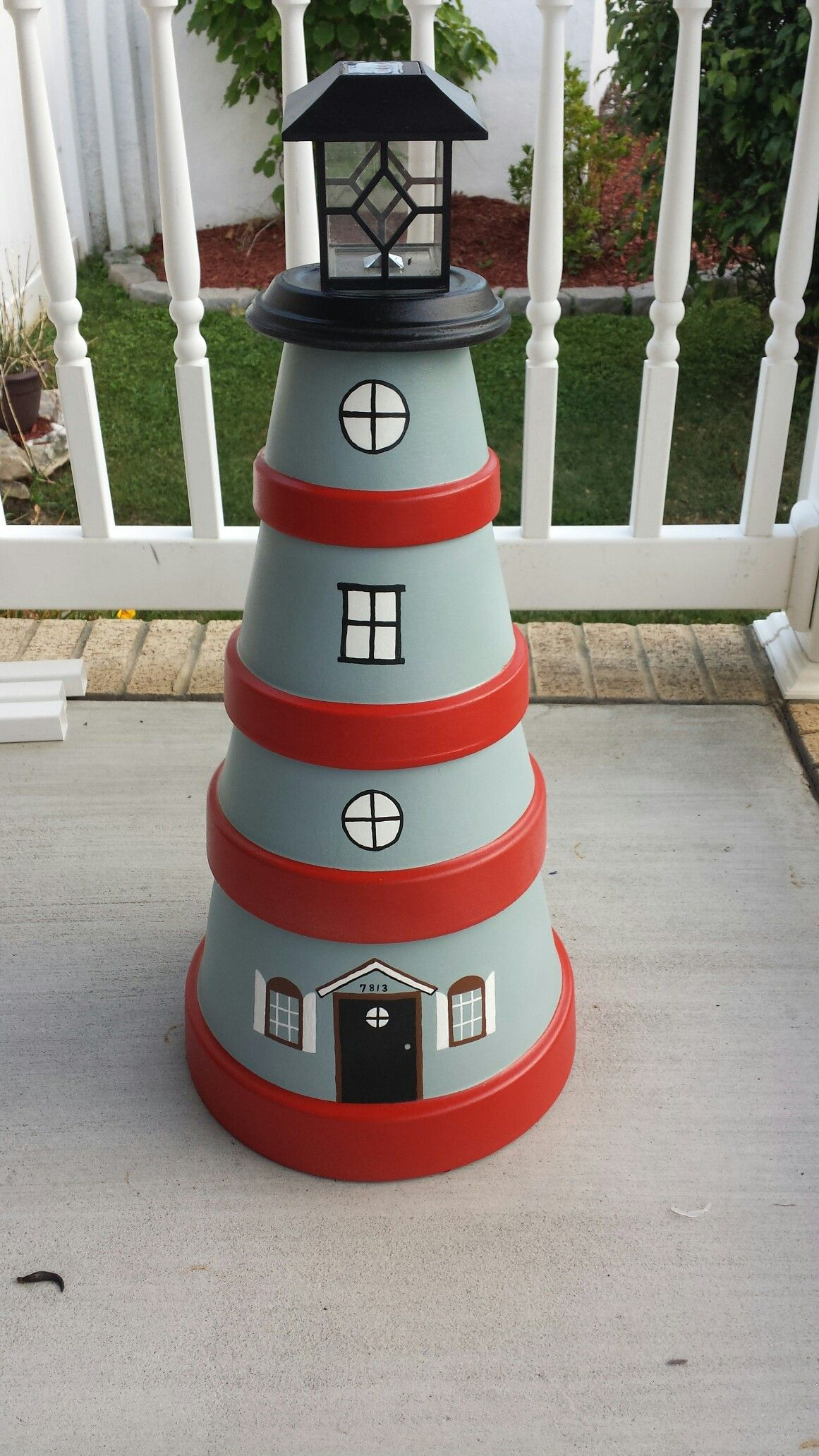 flower pot lighthouse cserepek pinterest leuchtturm. Black Bedroom Furniture Sets. Home Design Ideas