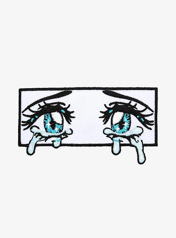 Crying Anime Eyes Patch Anime Crying Eyes Anime Eyes Anime Crying