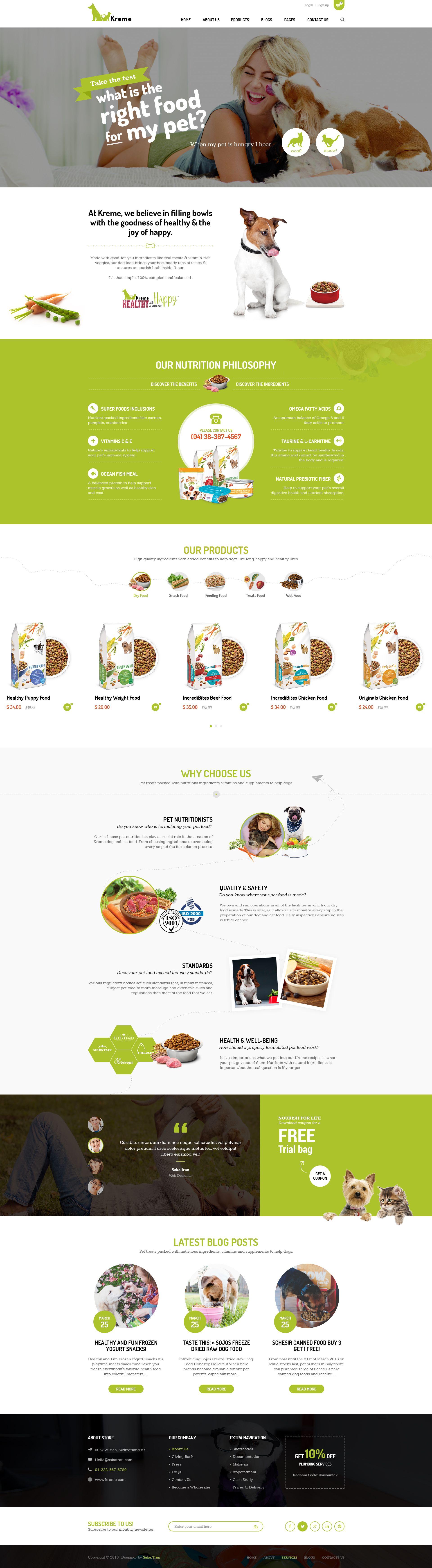 kreme pet shop psd template pinterest psd templates