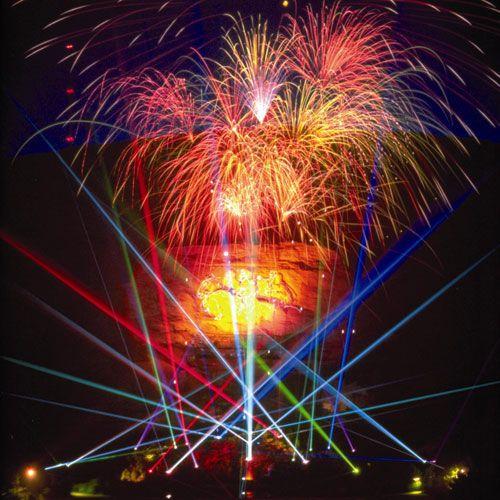 the lasershow spectacular at stone mountain park near atlanta