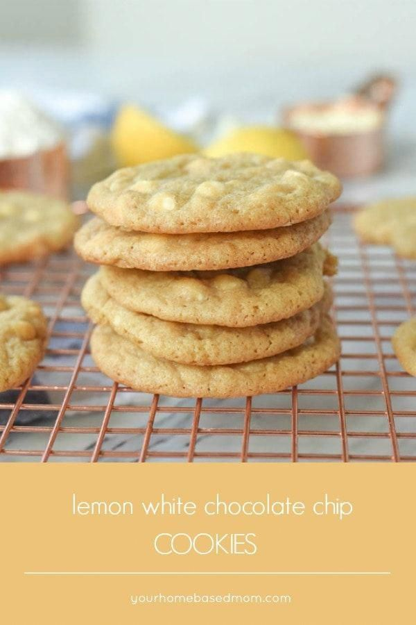 Lemon White Chocolate Chip Cookies Recipe The combination of flavors in these lemon white chocolate