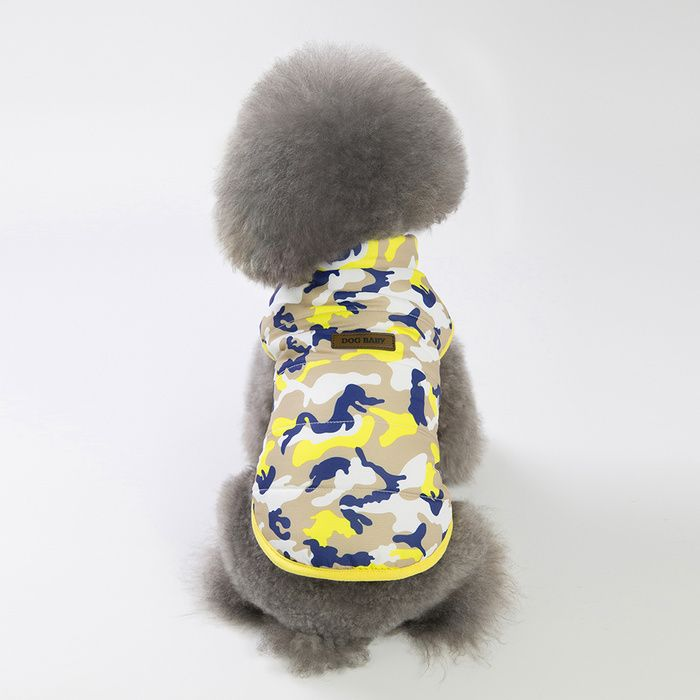 Pet Dog Teddy Bomei 18 New Camouflage Vest Three-color Two-legged Cotton Jacket Japanese And Korean Style #koreanstyleclothing