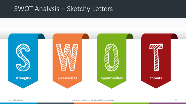 sta¶rre multipurpose powerpoint template swot analysis sketchy