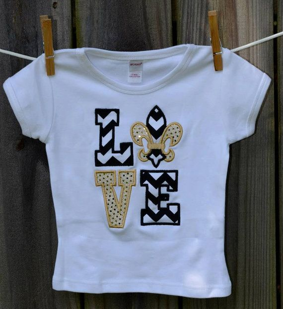 be7230af Personalized LOVE New Orleans Saints Football Applique Shirt or Onesie