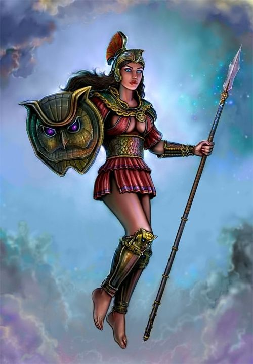 Athena goddess of wisdom and battle strategy