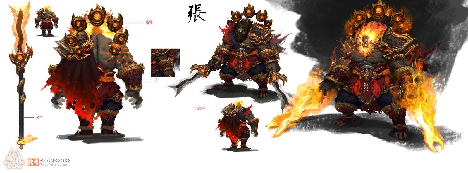 ZhangFei2, KaiHua Xie on ArtStation at https://www.artstation.com/artwork/zhangfei2