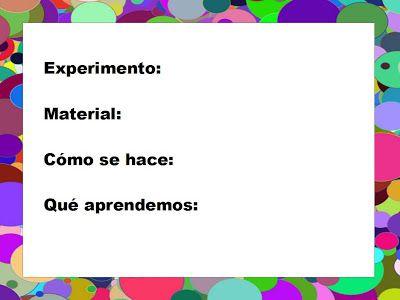 B aprende en casa: Cuaderno de experimentos (y consejos básicos)