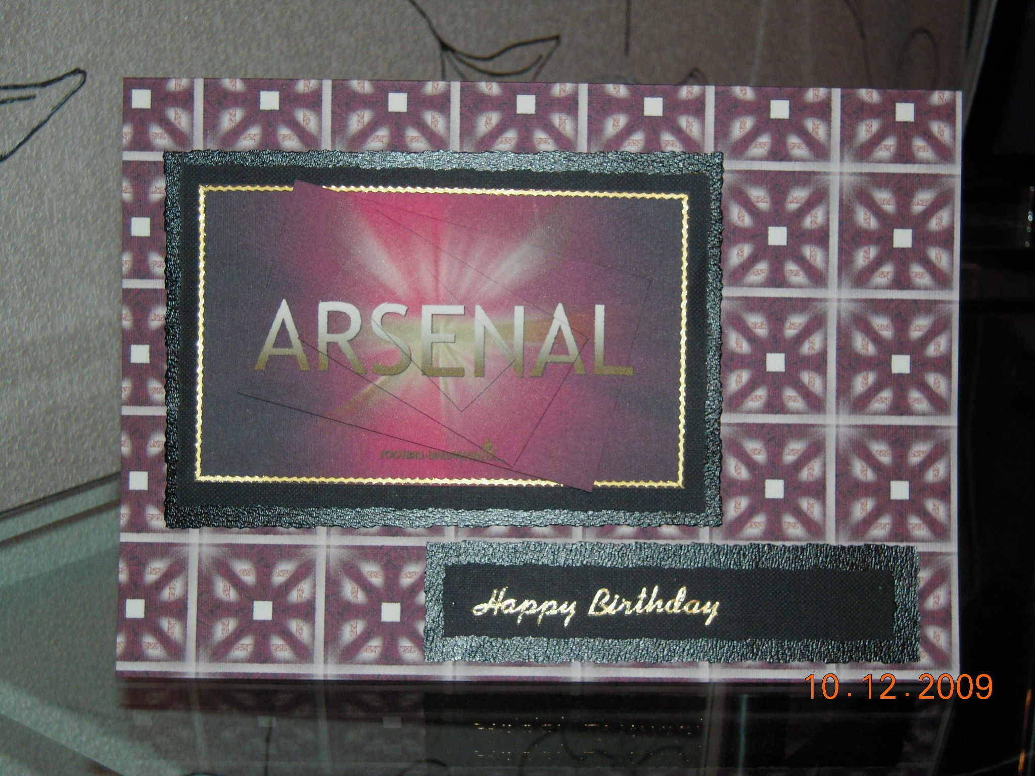 Arsenal Birthday Card My Collection Of Cards Pinterest Arsenal