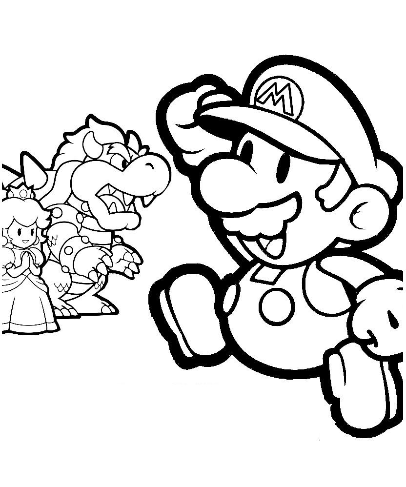 Free Printable Mario Coloring Pages For Kids Mario Coloring Pages Cartoon Coloring Pages Coloring Pages