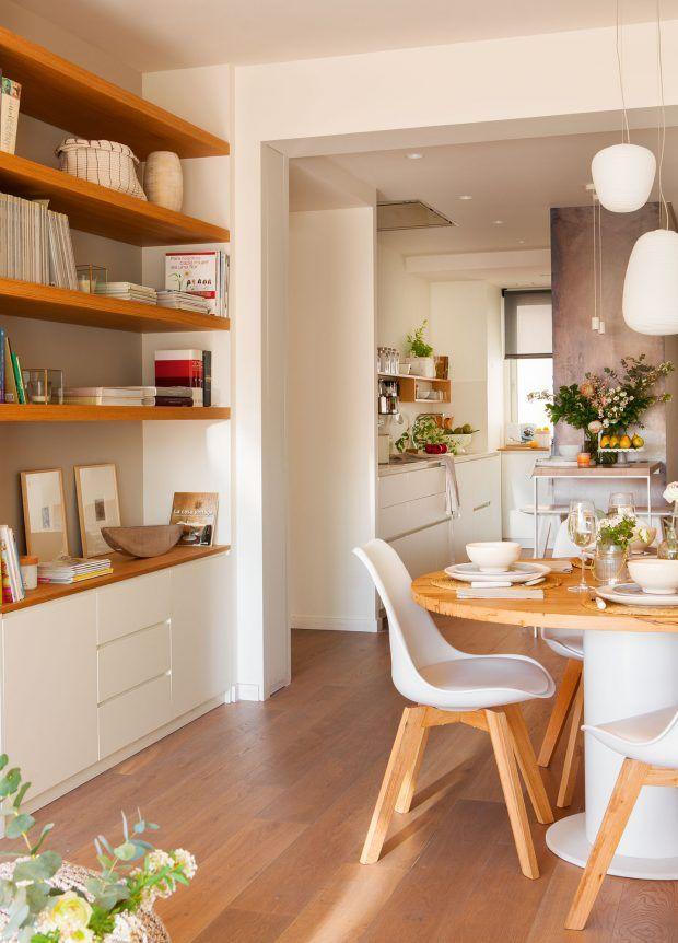 Inspiraci n para decorar salones peque os decorar salon for Librerias para salones pequenos