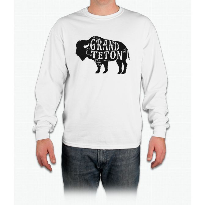 Grand Teton Buffalo Long Sleeve T-Shirt