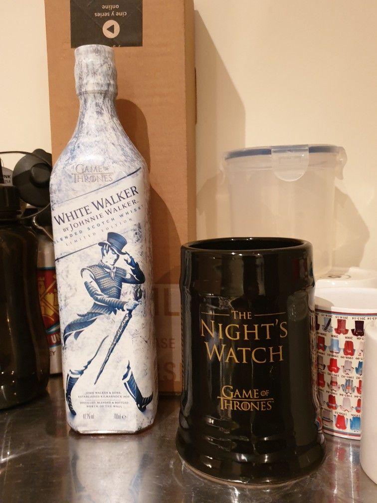 Game Of Thrones White Walker Whiskey Nights Watch Oath Thrones