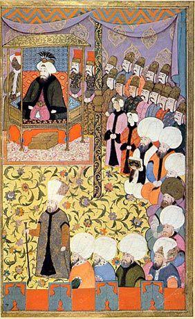 Lesung aus dem Koran vor Sultan Ahmet III.