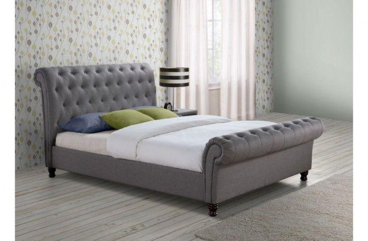 Birlea Castello 6ft Super Kingsize Grey Fabric Bed Frame beds