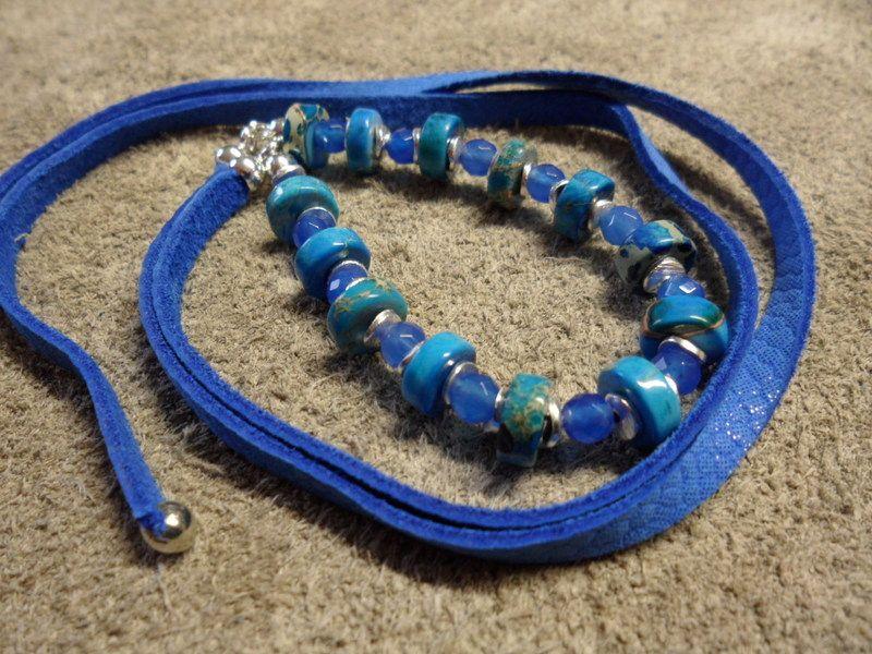 """Armbänder & Armreife - """"Fashion Colours"""" 2in1 blauer Jaspis - ein Designerstück von Sassissima bei DaWanda"""