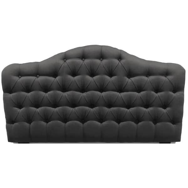 Fashion Bed Group Qu Saint Lucia Charcoal Upholstered Headboard ...