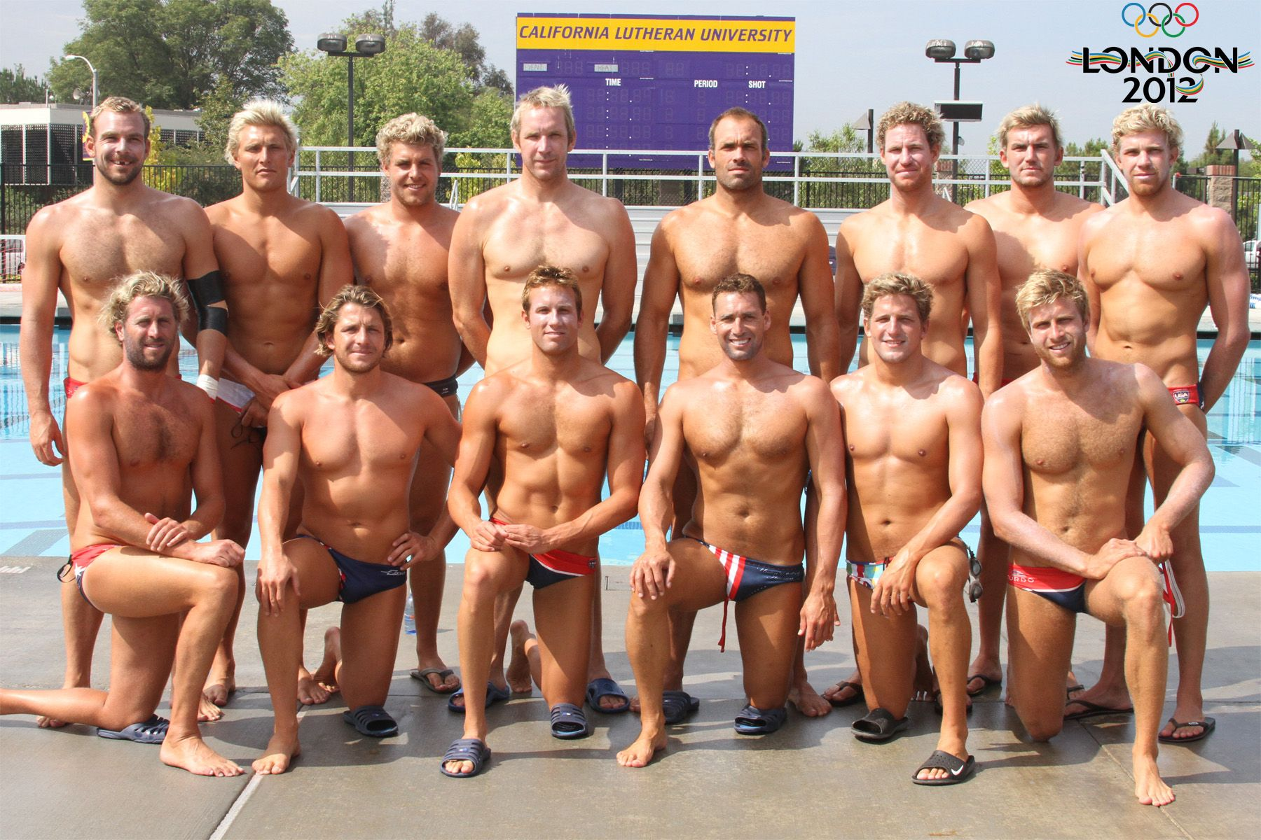 2012 US Men's Water Polo team...USA USA
