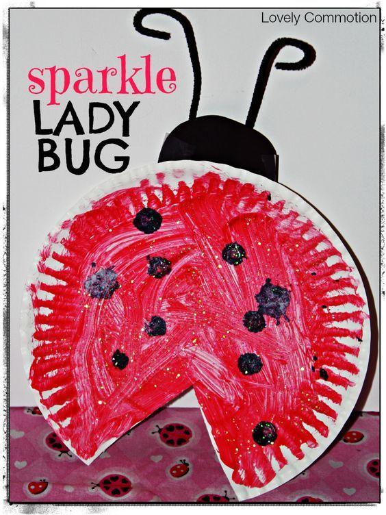 sparkle ladybug craft with Eric