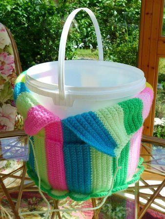 Photo of Crochet bucket / upcycling handmade bucket