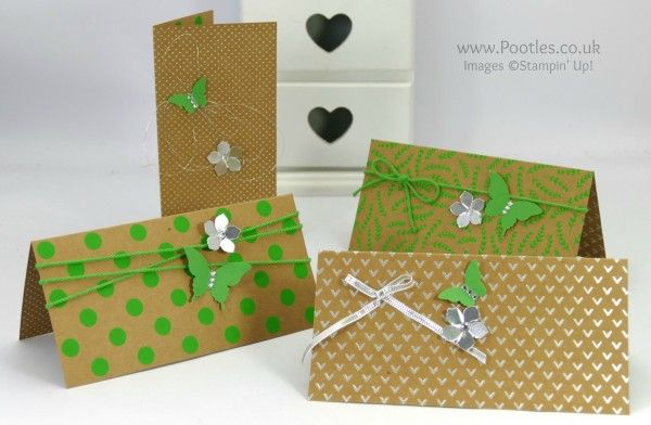 Stampin' Up! Demonstrator Pootles - 12 Cards using Shine On Speciality DSP Cucumber Crush