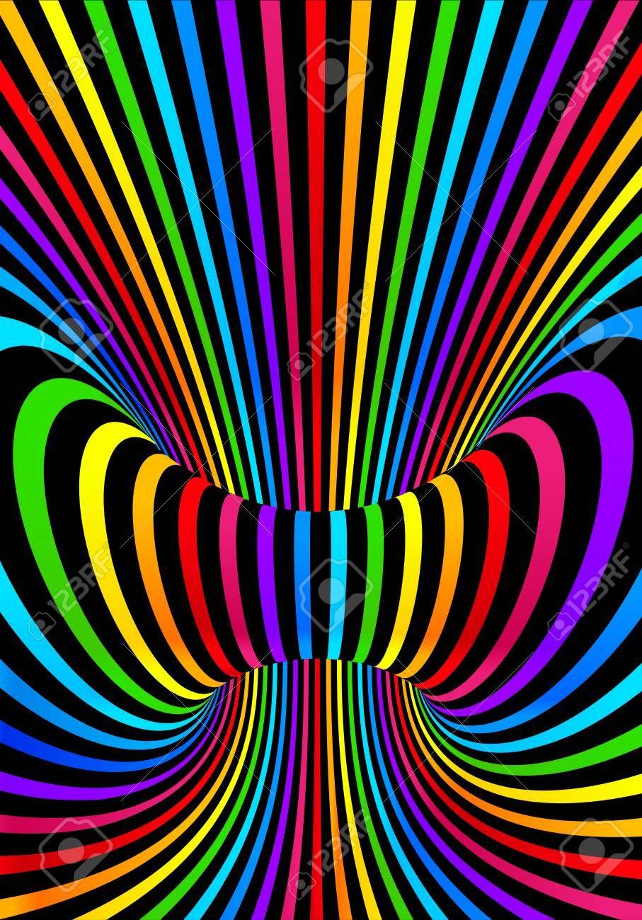 Dark neon rainbow colors vector abstract sound background