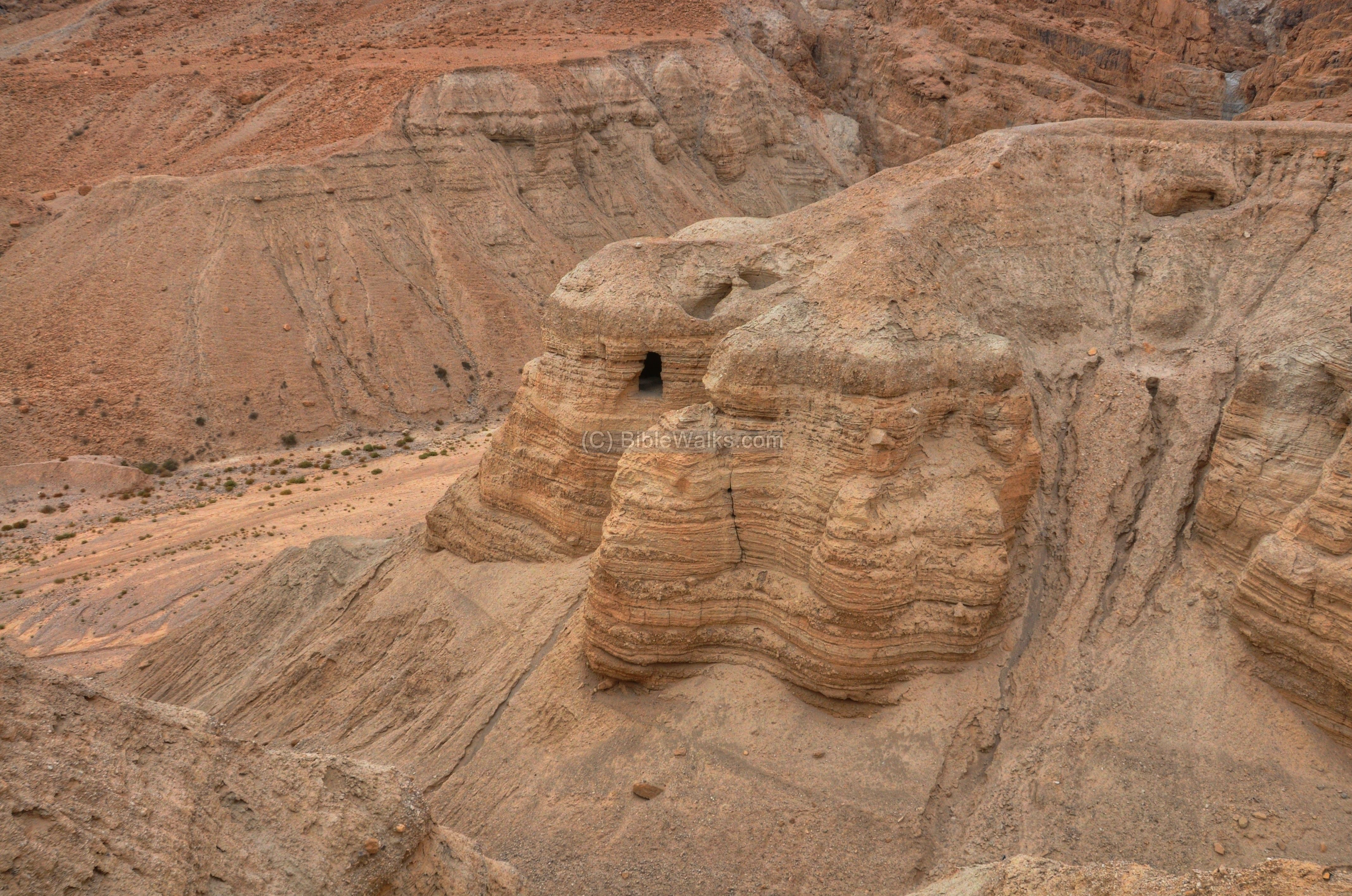 qumran   Inside the hill are several of the famous caves of Qumran, where the ...
