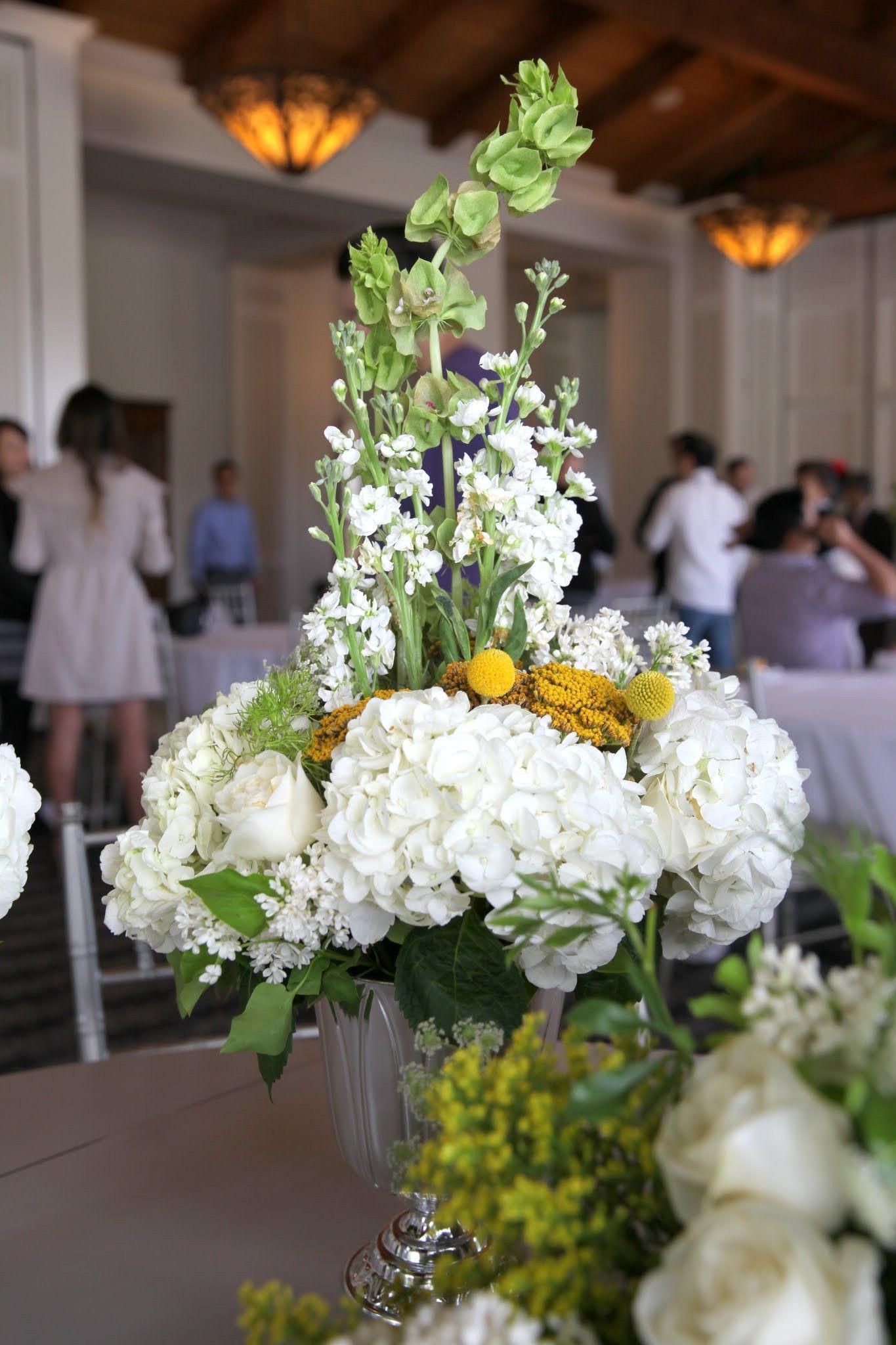 Stock Hydrangea Centerpiece Flower Arrangement Wedding Idea