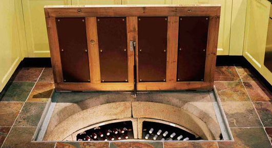 Trapdoor in the Kitchen Floor: Spiral Wine Cellars | Home and Office ...