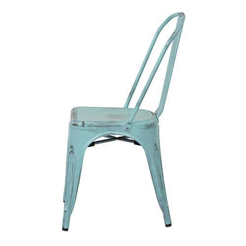 Best Bristow Antique Sky Blue Armless Chair Set Of 4 Office 640 x 480