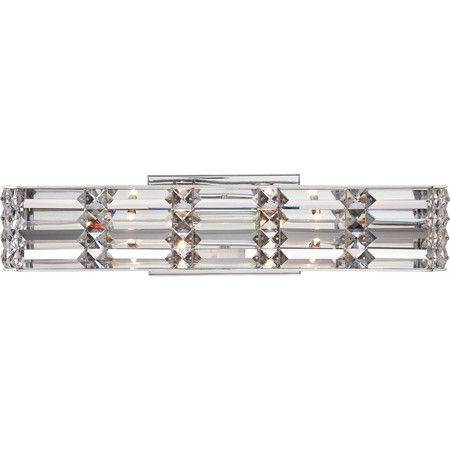 Quoizel's platinum division is fit for royalty with the aptly named Royale collection. The chic polished chrome finish and sparkling, intricate crystals a...